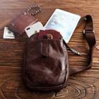 Genuine Leather Sling Bag Coffee - One Size