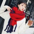 Braided Tassel Knit Scarf