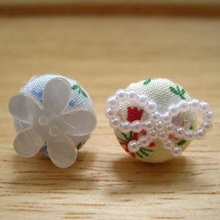 Flora Button Earrings