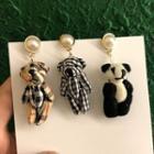 Bear Drop Earrings / Panda Drop Earring