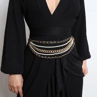 Embellished Waist Belt 0569 - Gold - One Size