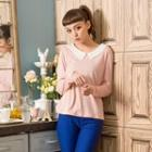 Peter-pan-collar Knit Top
