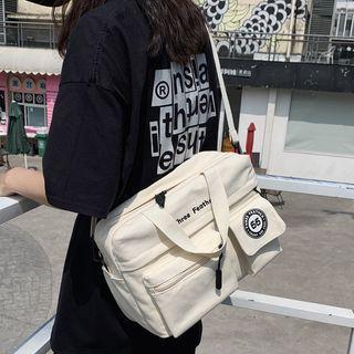 Lettering Mini Messenger Bag