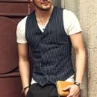Pinstriped Double-breasted Vest