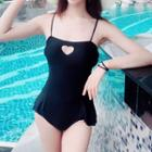 Heart Cut Out Swimsuit