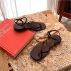 Ankle-strap Slide Sandals