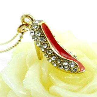 High-heel Shoes Necklace Gold - One Size