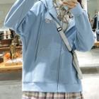 Plain Over-sized Hooded Jacket