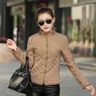 Stand-collar Quilted Zip Jacket