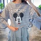 Mickey Mouse Stripe T-shirt