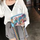 Wide Strap Printed Shoulder Bag