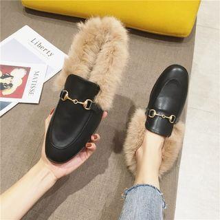 Horsebit Furry Loafers