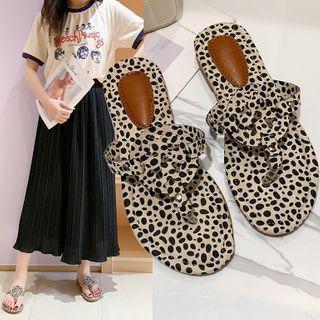 Leopard Print Flat Flip-flops