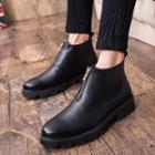 Platform Ankle Zip Boots