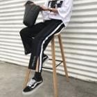 Lettering Slit Sweatpants