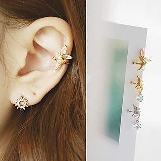 Gemstone Angel / Deer Ear Cuff