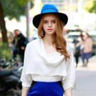 Cowl-neck Ruffled Top