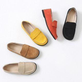 Chunky-toe Colored Loafers