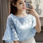 Set: Bell Sleeve Lace Top + Camisole Top