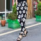 Floral Print Drawstring Pants