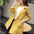 Belted Double-button Trench Coat