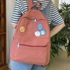 Plain Canvas Zip Backpack