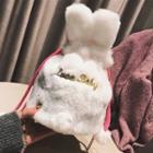 Furry Crossbody Bag White - One Size
