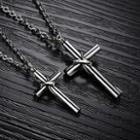 Couple Cross Titanium Steel Necklace