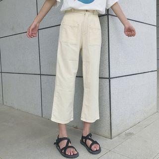 Pocket-front Wide-leg Pants