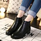 Chunk Heel Ankle Boots