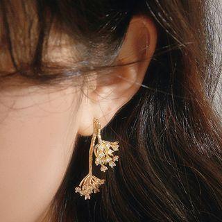 Flower Earring 1 Pair - Stud Earrings - Gold - One Size
