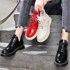 Faux Leather High Top Oxford Shoes