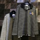 Striped Long-sleeve Polo Shirt