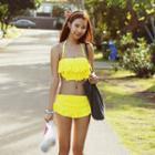 Set: Frilled Bikini + Swim Skirt
