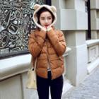 Cropped Hooded Padded Jacket