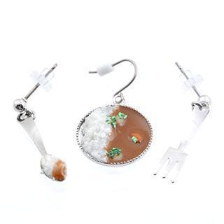 Delicious Curry, Spoon & Fork Earrings