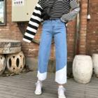 Fringed Straight-leg Jeans