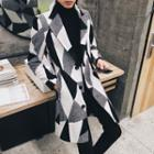 Colour Block Wool Coat