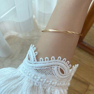 Twisted Alloy Bangle 1 Piece - As Shown In Figure - One Size