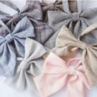 Plaid Ribbon Bow Tie