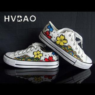 Flower World Canvas Sneakers