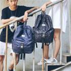 Printed Buckled Backpack