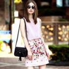 Sleeveless Floral Layered Dress