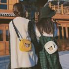 Bear Applique Mini Crossbody Bag