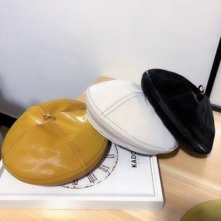Contrast Stitching Beret Hat