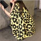 Leopard V-neck Knit Cardigan