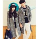 Houndstooth Hooded Coat