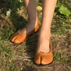 Colored Faux-leather Flats