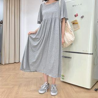 High-waist Cotton Long Dress