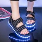 Led Platform Velcro Sandals